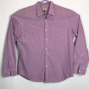 J Crew Classic XL Purple/White Check Shirt